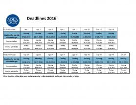 Deadlines 2016 DitVand