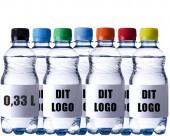 0,33l flaske med farvet låg